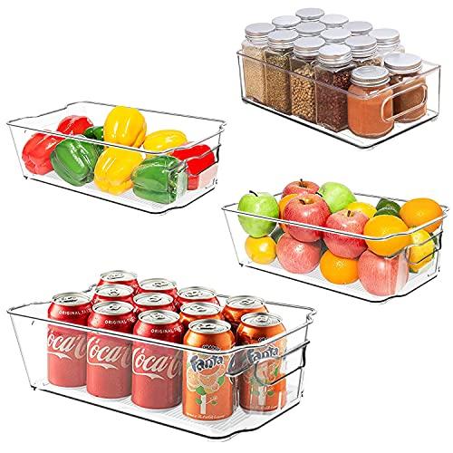 (53% OFF) Refrigerator Organizer Bins 4 Pack $15.51 – Coupon Code