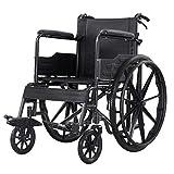 ZXGQF Silla de ruedas autopropulsable, ancianos silla de transporte- asiento ergonómico, Reposabrazos y Reposapiés Cinturon de seguridad