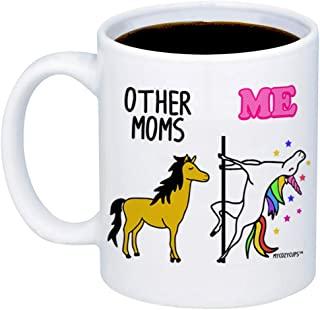 MyCozyCups Gifts For Mom - Other Moms Unicorn Coffee Mug - Funny Unique 11oz Cup For Mothers, Stepmom, In Law From Daughter, Son - Mother's Day, Birthday, Christmas Gift, Valentine's Day For Women