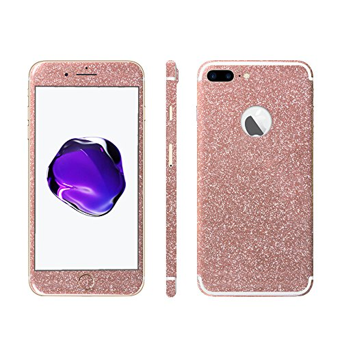 Luch iPhone 7 8 X Glitter Screen Skin Diamond Shine Sticker plakfolie beschermfolie voor de voor- en achterkant, iPhone 7/8, oranje