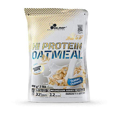 Olimp HI Protein Oatmeal, Neutral, 900 g, Eiweiß Haferflocken