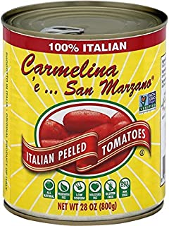 Carmelina 'e… San Marzano Italian Whole Peeled Tomatoes in Puree, 28 ounce (Pack of 6)