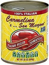 Carmelina 'e… San Marzano Italian Whole Peeled Tomatoes in Puree, 28 ounce (Pack of 6)