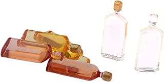 Maison de poupées rose bouteille vin miniature Pub Bar Accessoire 1:12