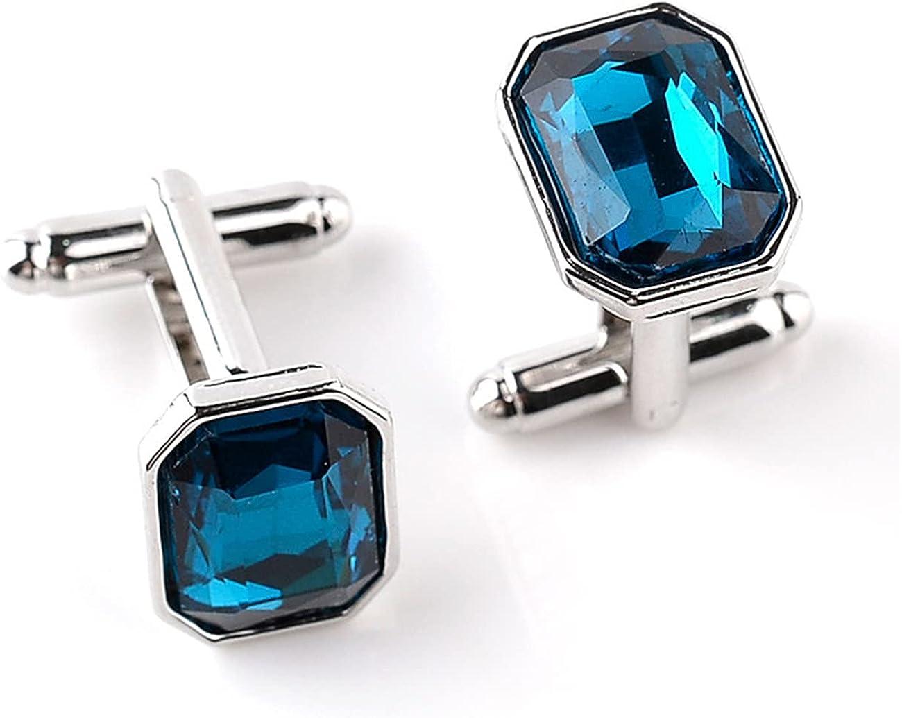 GH8 Mens Classic Stainless Steel Cufflinks Cufflinks Business Wedding Shirts - Rhinestone PXH15#