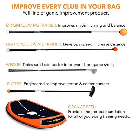 """Orange Whip Midsize Golf Swing Trainer Aid for Improved Rhythm, Flexibility, Balance, Tempo, and Strength – 43.5"""""""