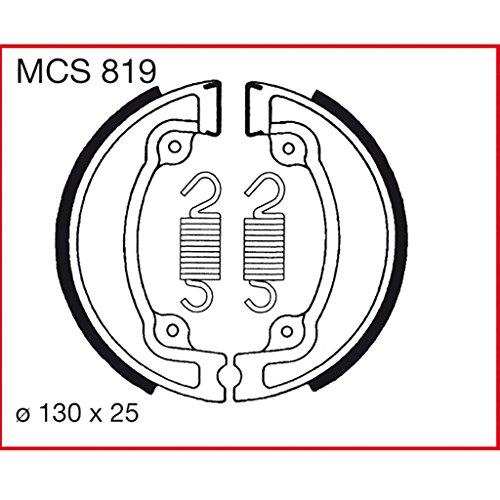 Machoires de freins Lucas MCS819 pour Bombardier DS | Bombardier DS 2T | E-TON Ranger DXL | E-TON Viper RXL 4T | E-TON Yukon YXL | Honda CG 125 JC27 | Honda CR 125 R JE010 | Honda CR 250 R ME