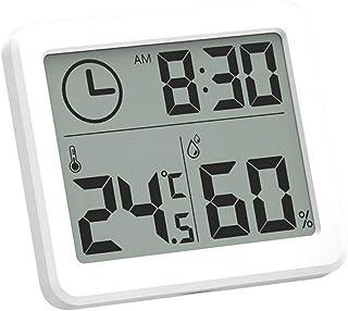 xdrfxrghjku Mini Digital LCD Interior Sensor Electrónico De Temperatura Digital Termómetro Higrómetro Higrómetro Reloj Des...