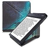 kwmobile Funda Compatible con Kobo Libra H2O - Carcasa magnética de Origami para e-Book - árbol y Estrellas Azul/Gris/Negro
