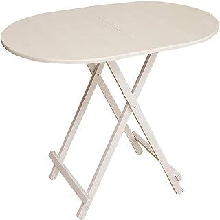 ZBYY Table de salle à manger ronde, pliable, table de salle à manger ovale (90 x 60 x 74 cm), petite table multifonction, ...