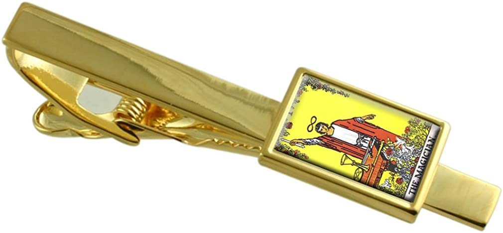 Select Gifts Tarot Magician Card Gold-Tone Tie Clip Pouch