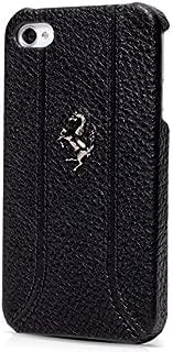 iPhone 4/4s Ferrari Black Grain Leather Hard Case