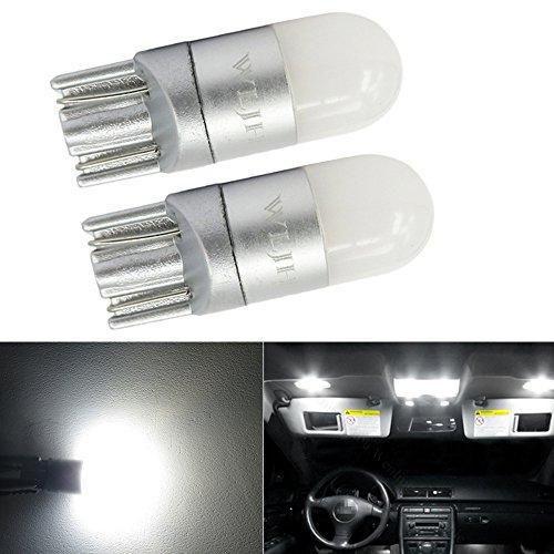 WLJH 2pcs T10 W5W LED Ampoules 12V 24V 3030 Chipsets Super Lumineux Blanc Pur avec 360 Degrés Projection pour Voiture Camion Moto Intérieur Dôme Plaque D'immatriculation Lampada di parcheggio