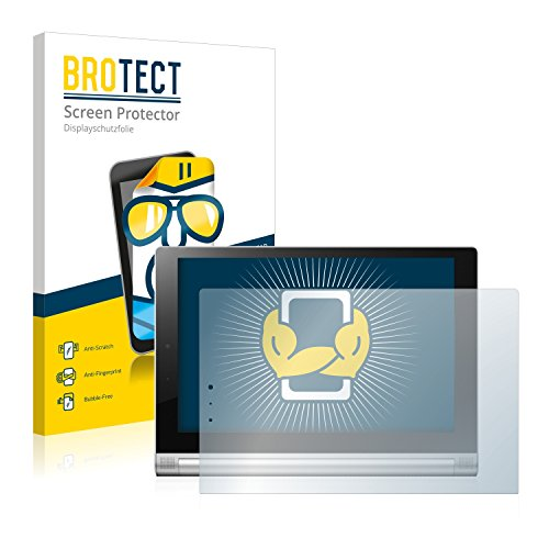 BROTECT Schutzfolie kompatibel mit Lenovo Yoga Tablet 2 10.1 2-1051L (2 Stück) klare Bildschirmschutz-Folie