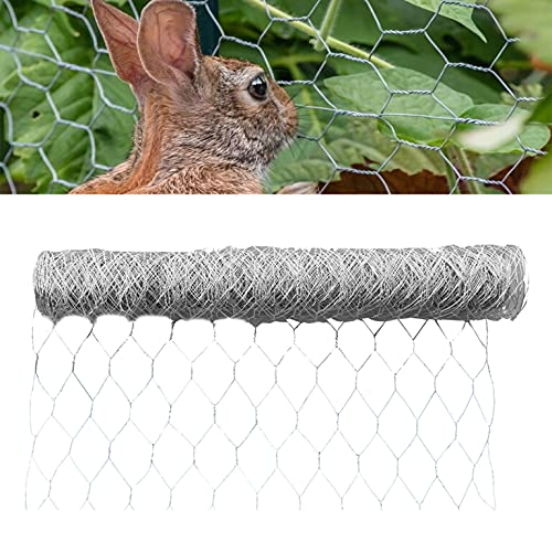 mitoharet 2 Holes Hexagonal Galvanized Poultry Net - Chicken Wire Metal Mesh Fencing with Rabbits Pets Dog Cat Vegetable Garden Fencing Backyard Raised Flower 72in x 50ft