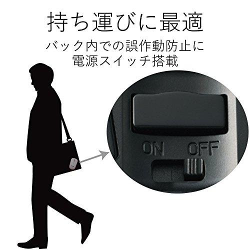 エレコムマウスワイヤレス(レシーバー付属)Mサイズ3ボタン静音IRセンサー省電力ブラックM-IR07DRSBK