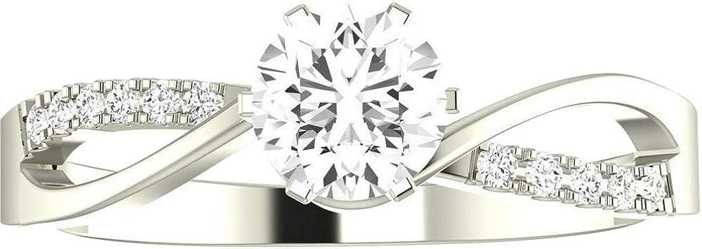 14K White Gold 1.08 Carat LAB Elegan IGI Japan Maker New CERTIFIED DIAMOND Luxury GROWN