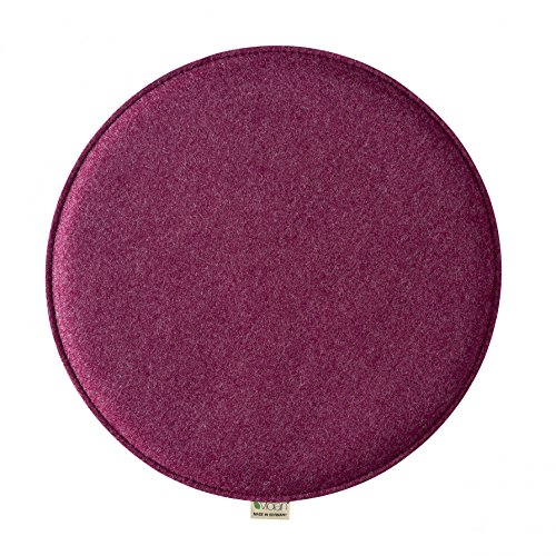 Violan Sitzkissen rund - ø 39 cm, h 1,8 cm - Berry