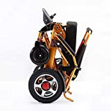 Fold & Travel Premium Folding Electric Wheelchair, Lightweight All Terrain Power Scooter, Heavy Duty, Dual...
