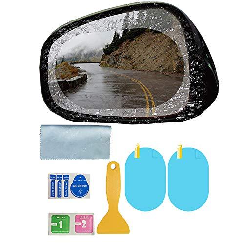 Auto-HD Rückspiegel Anti-Fog-Schutzfolie, Regenschutz Anti Glare Nano Coating-Spiegel-Film und Seitenscheibe Film, für Auto-LKW SUV,Oval