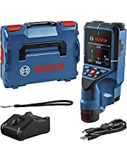 Bosch Professional 12V System Muurscanner D-tect 200 C (12V accu, detectie van (niet-)stroomvoerende kabels, metaal, plastic buizen, houten onderconstructies en holtes, USB-C™ kabel, L-BOXX)
