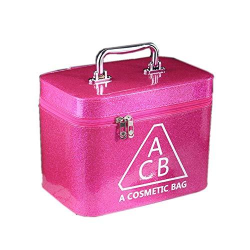 Sac Cosmétiques Accessoires Cosmétiques Maquillage Voyage Cas Organisateur Sac Cosmétiques Organisateurs Avec Poignée Et Porte-Brosse S Rose Rouge