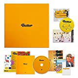 BTS Album BUTTER - [ CREAM Ver. ] CD-R + Photobook + Lyric Cards + Instant Photo Card + Photo Stand + Folded Message Card + Graphic Sticker + Photo Card + OFFICIAL POSTER