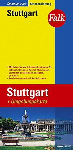 Falk Stadtplan Extra Standardfaltung Stuttgart