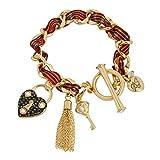 Betsey Johnson Heart Lock Charm Bracelet
