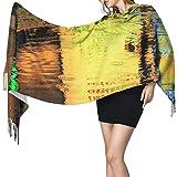 Bufanda de mantón Mujer Chales para, Modern Street Art Moda para mujer Mantón largo Invierno Cálido Bufanda grande Bufanda de cachemira