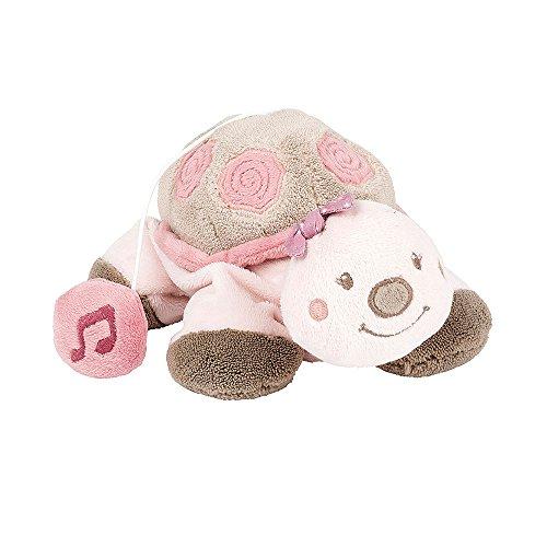 Nattou Peluche Musicale Bébé, Fille, 20 cm, rose - Lili la tortue