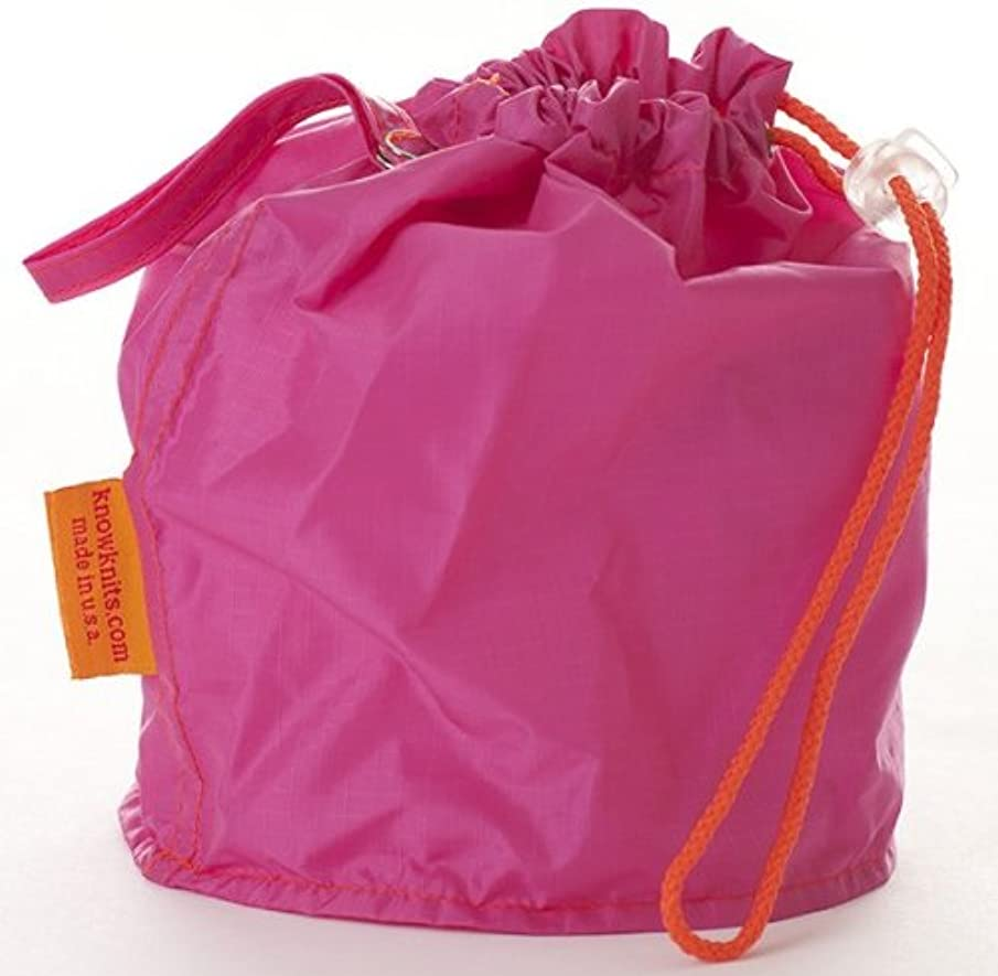 Pink Small GoKnit Pouch Project Bag w/ Loop & Drawstring