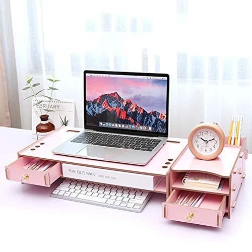 Gaohm Soporte vertical para monitor, con ventilación y administración de cables Soporte para monitor, soporte vertical ergonómico para monitor de computadora de escritorio, para accesorios de escritor