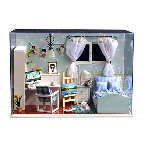 Alinory Gut aussehendes entzückendes Haus, tragbare Hausdekoration, Mini-Möbel für Hauptschlafzimmerdekorationsbüro