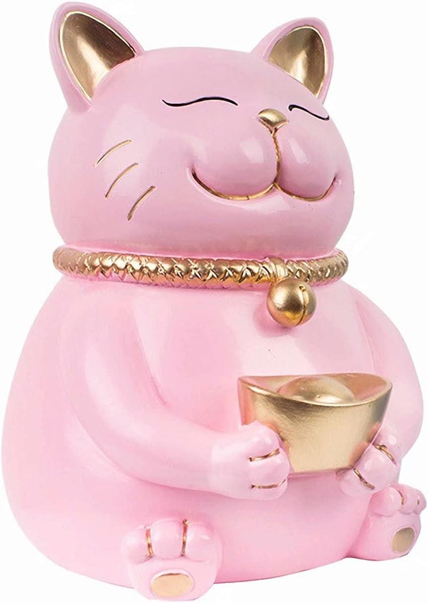 Piggy Bank Cat for New color Toddlers Resin Pi Children Shatterproof 2021 model Girl