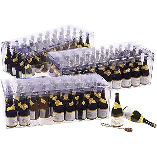 Mini Champagne Bottle Bubble Wedding Favors (108 Pack)