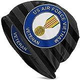 LinUpdate-Store Veterano de la Fuerza Aérea de EE. UU. Medalla de Vietnam Sombrero Unisex Sombrero de Punto Sombrero de Calavera Gorro Gorro