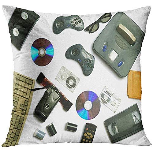 Suo Long Fodera per Cuscino La Tecnologia multimediale degli Ultimi Dischi C 80S Videocassette Console per Videogiochi Audio Cartucce Controller Pellicola