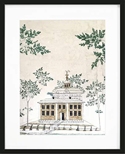 PosterVoxna - Reproduktion av handmålad tapet från Hälsingland. Tavla ur en serie med 4 affischer, bygger tillsammans en fin tavelvägg (30x40 cm)