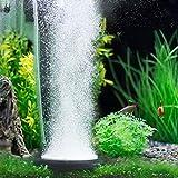 Hygger Piedra Difusora Acuario, Aumentar O2, Reducir CO2, Oxigenador Acuario Silencioso, Burbujas Acuario Decoracion (Negro, 50mm)