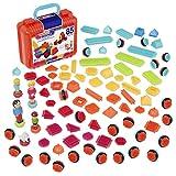 Bristle Blocks Big Value - Maletín de juego de construcción con muñecos y animales (85 piezas) , color/modelo surtido
