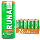 Organic Clean Energy Drink by RUNA, Blood Orange | Refreshing Tea Taste | 10 Calories | Powerful Natural Caffeine | Healthy Energy & Focus | No Crash or Jitters | 8.4 oz (Pack of 24)