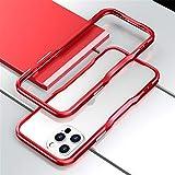かっこいい iPhone12 ケース iPhone12Pro ケース 枠 バンパー アルミバンパー 耐衝撃 金属フレーム スポーツカー デザイン 人気 2020 アイフォン12プロ カバー ブランド 男性 女性 おしゃれ 格好いい 軽量 アルミニウム アルミサイドバンパー ストラップホール付き (iPhone12/12Pro, 赤)