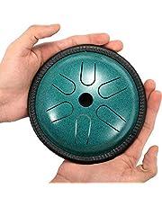Hanwuo Kit de tambor de lengua de acero, 5.5 pulgadas, 6 notas, instrumento de percusión para niños y adultos con bolsa de transporte