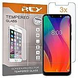 REY 3X Protector de Pantalla para VSMART Joy 1+, Cristal Vidrio Templado Premium