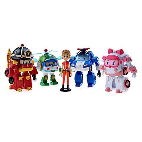 Ouaps - 83038 - Pack De 5 Figurines - Animation - Robocar - 8 Cm