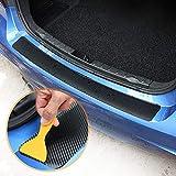 XHULIWQ Carbon Auto 3D Auto Heck Autoaufkleber, Für VW Golf 7 MK7 MK6 MK5, Auto Trim Anti-Kicked Scratch Protection Aufkleber
