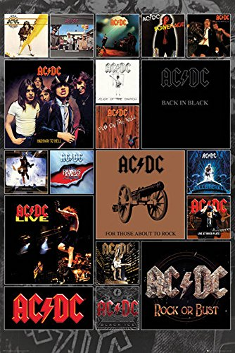 empireposter Covers-Musikposter Heavy Metal Hard Rock AC-DC-Grösse 61x91,5 cm, Papier, bunt, 91.5 x 61 x 0.14 cm