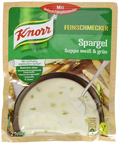 Knorr Feinschmecker Spargel Suppe weiß & grün, 2 Teller, 17er Pack