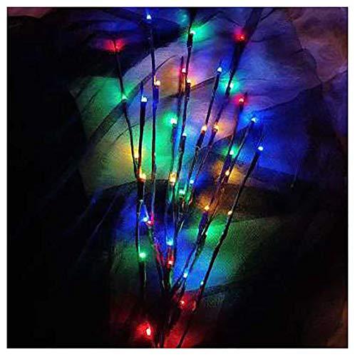 Luces De Decoración De Sucursales, Simulative Willow Twig Ramificación Lámparas De Árbol, 20 LED Ramas Ligeras para Salas De Estar Dormitorios Decoración De Decoraci Multicolor-Nine Packs